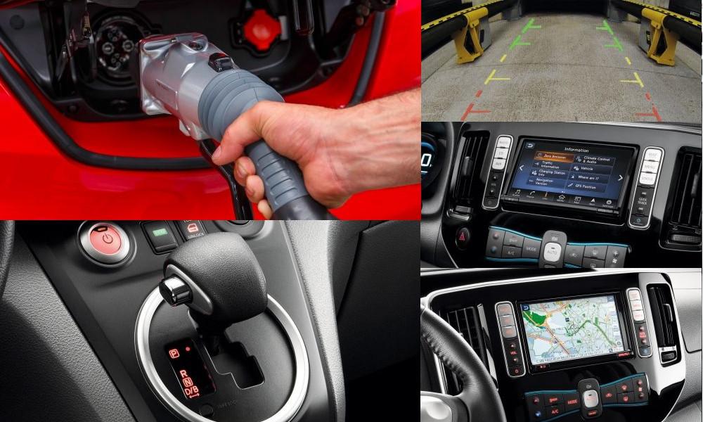 Kolaż Nissan e-NV200 elektryczny - Wypożyczalnia samochodów luksusowych Mestenza Trójmiasto Rafał Grzebin